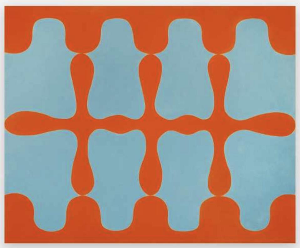 orange and blue painting