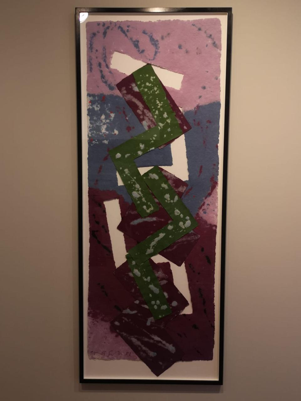 painting in green and purple