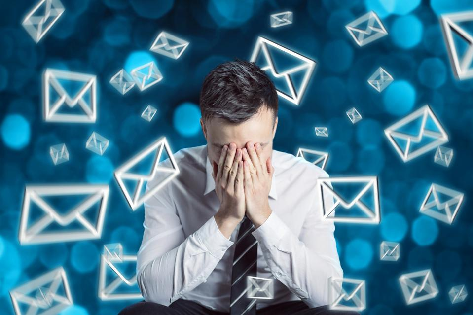 Man frustrated over e-mail