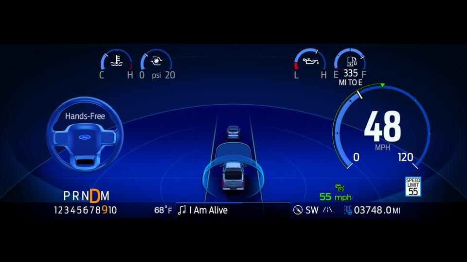 Ford BlueCruise hands-free driving assist will be available as an over-the-air software update on Mustang Mach-E and F-150 with the right hardware during Q3 2021