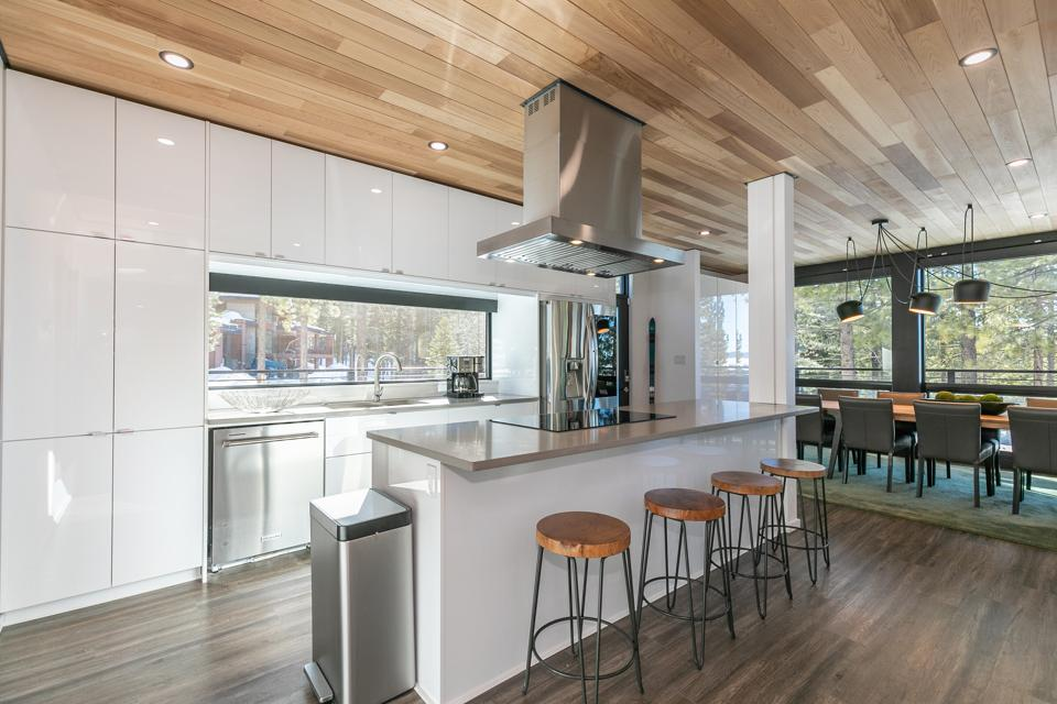 kitchen inside container house in tahoe-truckee at 19140 glades mountainside northstar