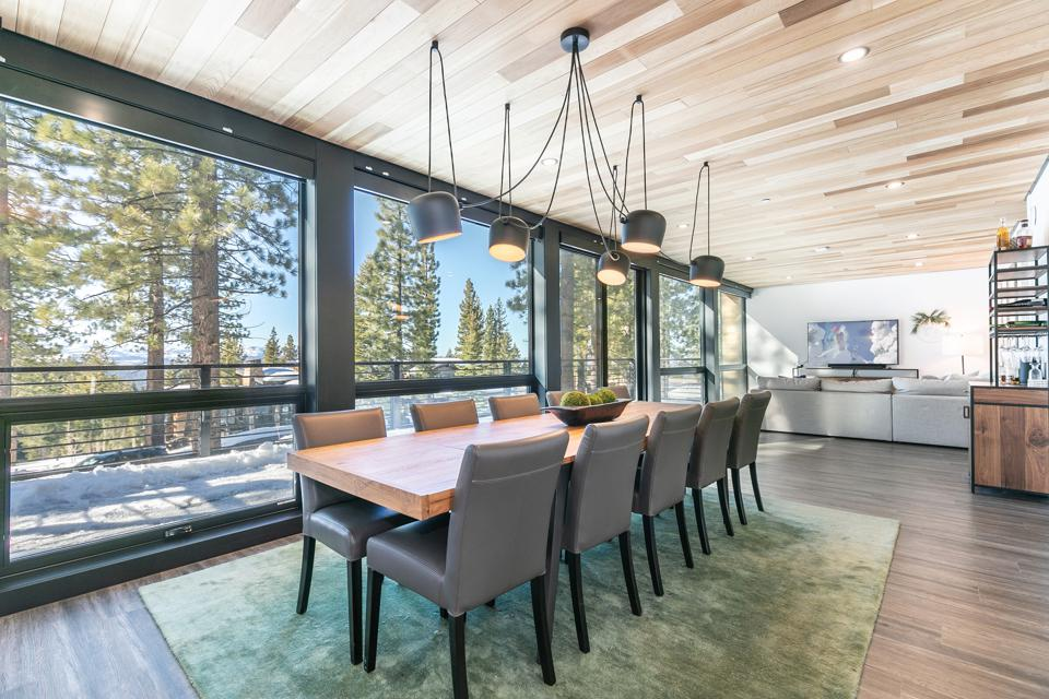 dining room in container house tahoe truckee mountainside northstar 19140 glades