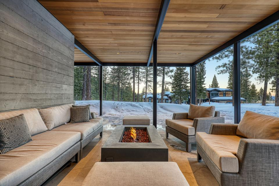 fire pit container house tahoe truckee 19140 glades place mountainside m25