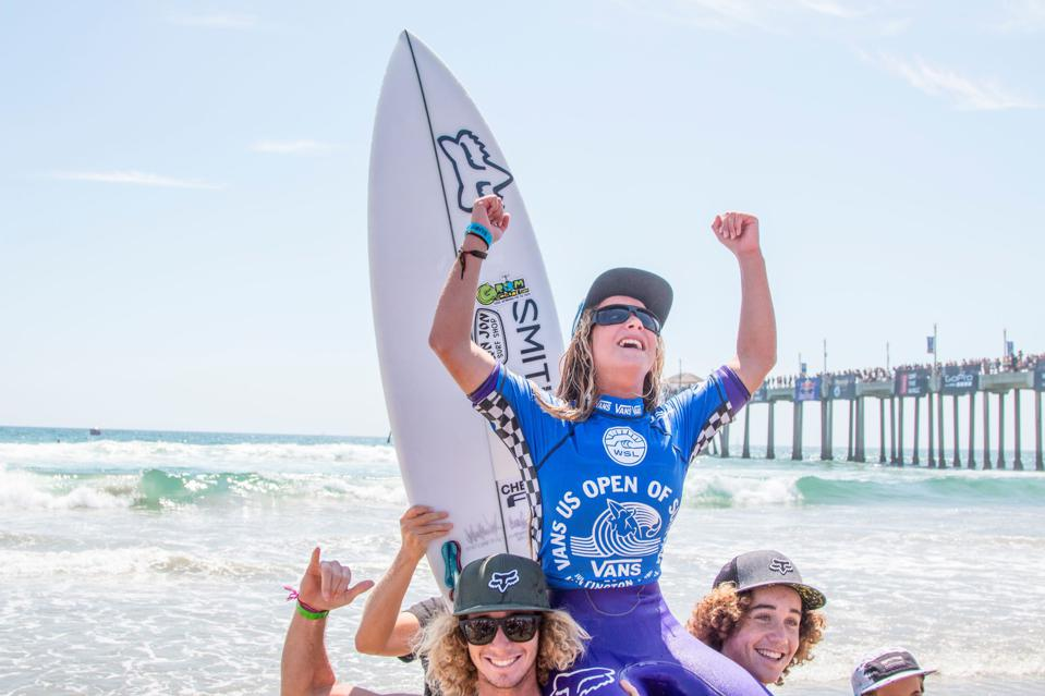 Carline Marks wins the Jr Girls at the US Open of Surfing in 2015