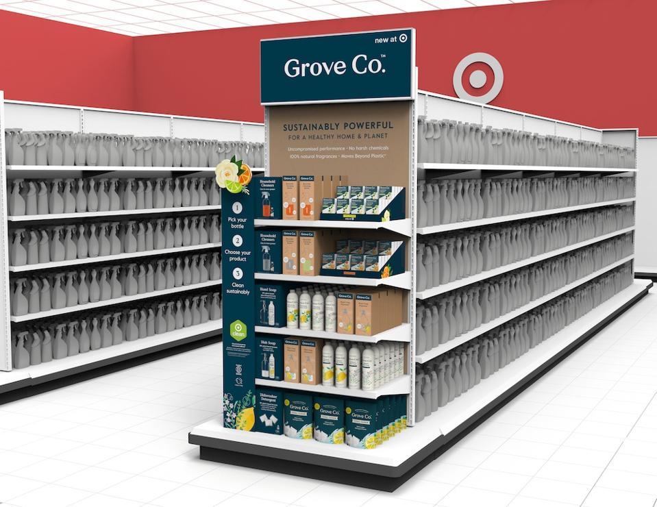 Grove endcap at Target