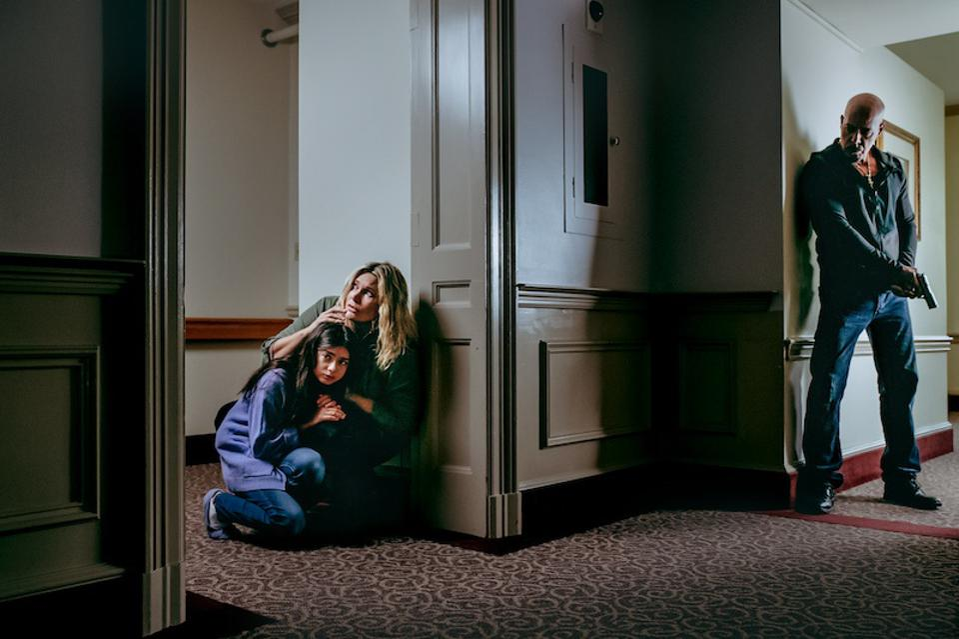 Natasha Henstridge, Addison Kendall and Roberto Sanchez in 'Night Of The Sicario.'