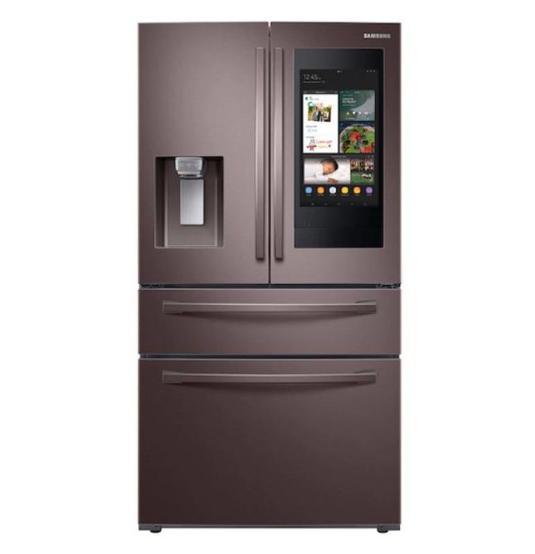 28 cu. ft. 4-Door French Door Refrigerator with Touch Screen Family Hub™ in Tuscan Stainless Steel Refrigerator - RF28R7551DT/AA
