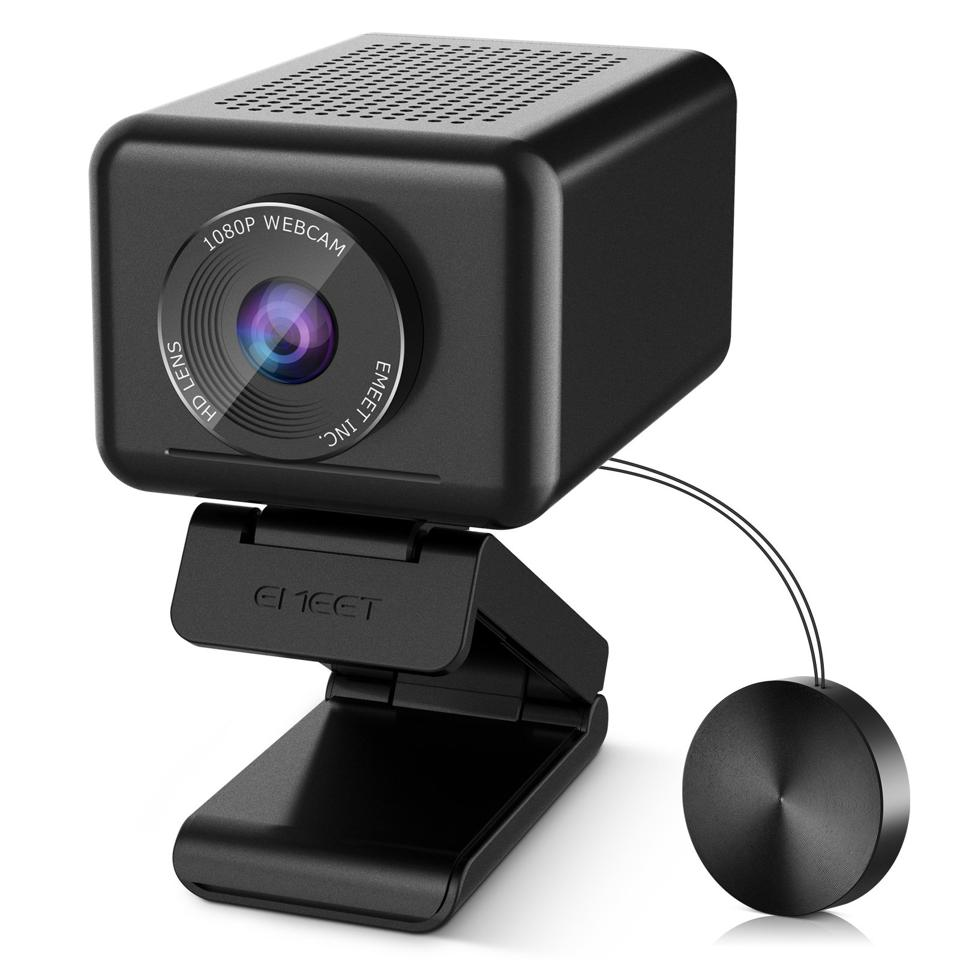 Three-quarter view of eMeet Jupiter webcam