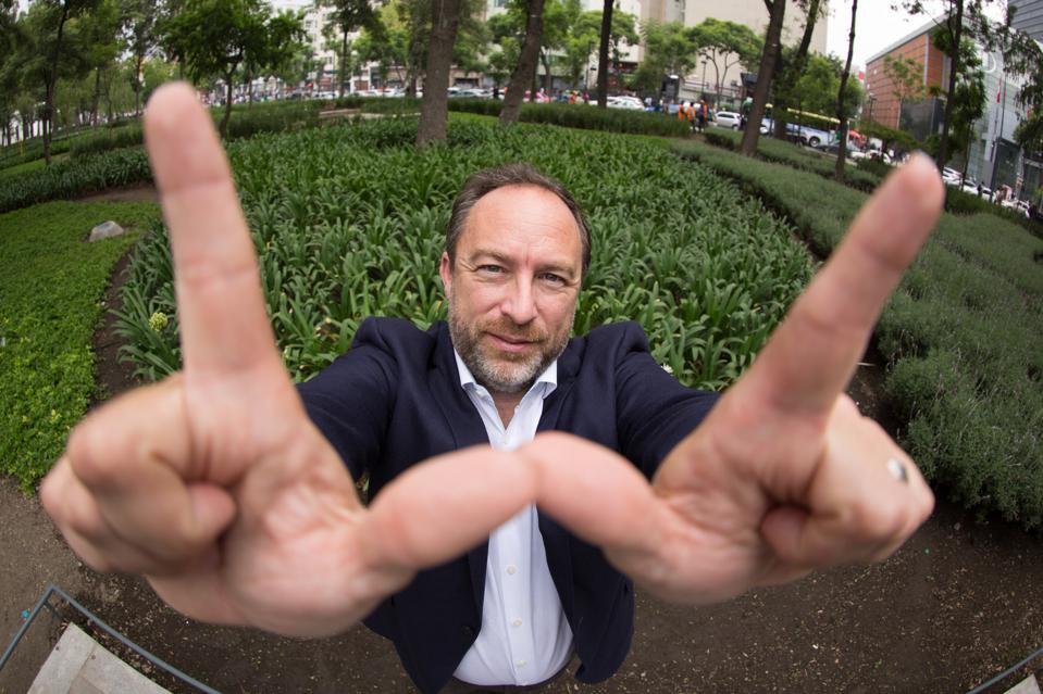 Jimmy Wales at Wikimania 2015