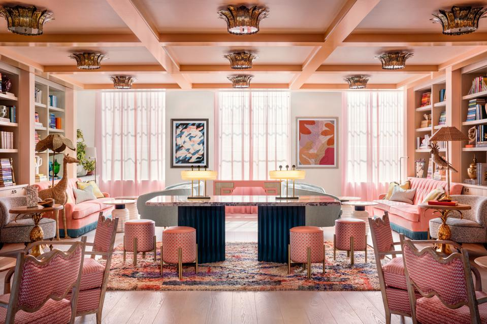 The Goodtime Hotel's Library is a social meeting space within the hotel.
