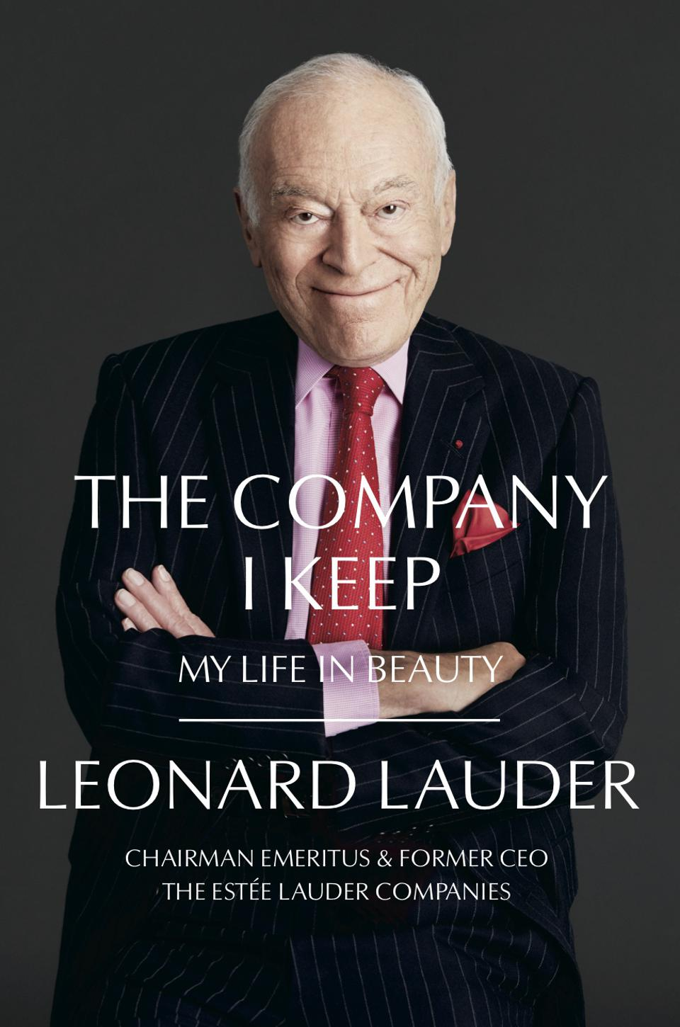 Book Jacket Cover, Leonard Lauder with his arms crossed, Chairman Emeritus & Former CEO, The. Estée Lauder Companies