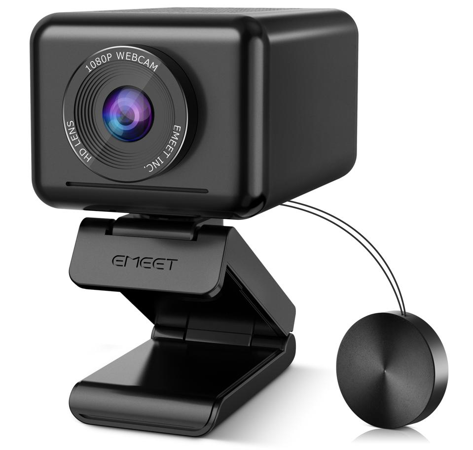 eMeet Jupiter webcam three-quarter view