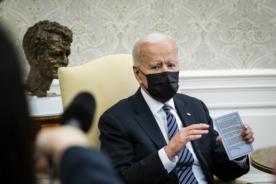 President Biden in the Oval Office