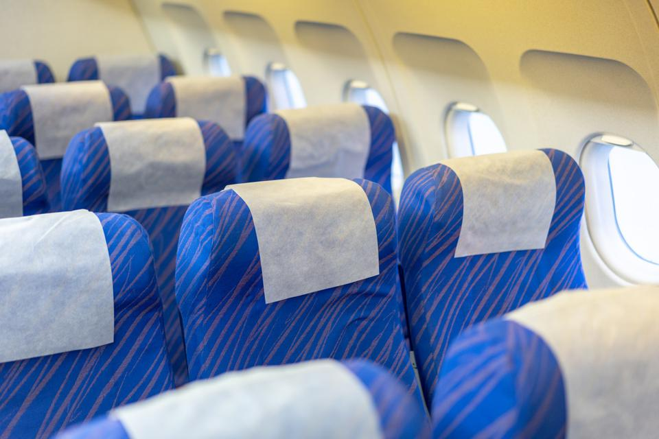 Seats in aircraft cabin
