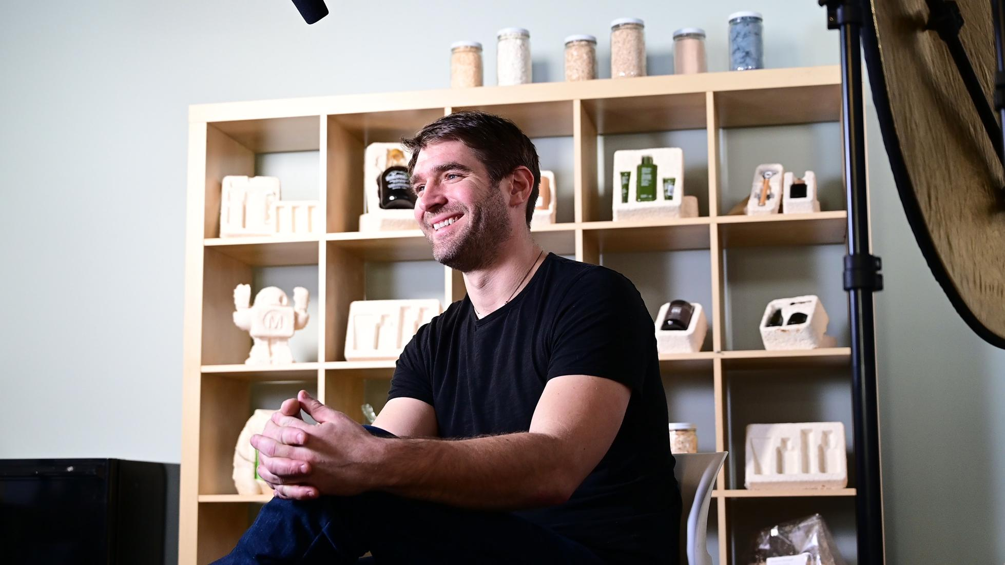 Eben Bayer cofounded Atlast, a food-focused spinoff from Bayer's mycelium technology company based in upstate New York called Ecovative.