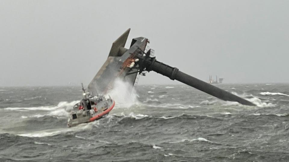 The Seacor Power capsized in the Gulf of Mexico.
