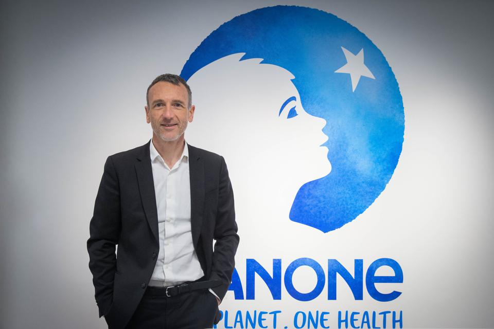 Emmanuel Faber, CEO of Danone Group, Presents Its Annual Results In Paris