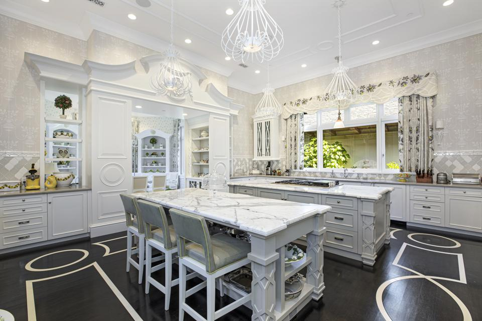 luxury kitchen montecito mansion trophy compound