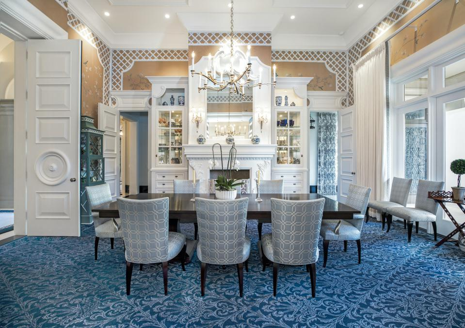 formal dining room montecito luxury home sycamore canyon road