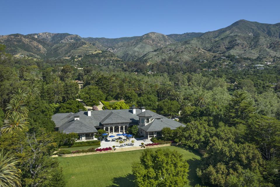 aerial view of 2535 sycamore canyon road