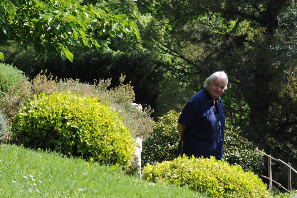 Jean Mus in his garden in Cabris