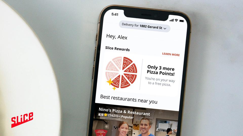 Slice app users get a free pizza for every eight they order.