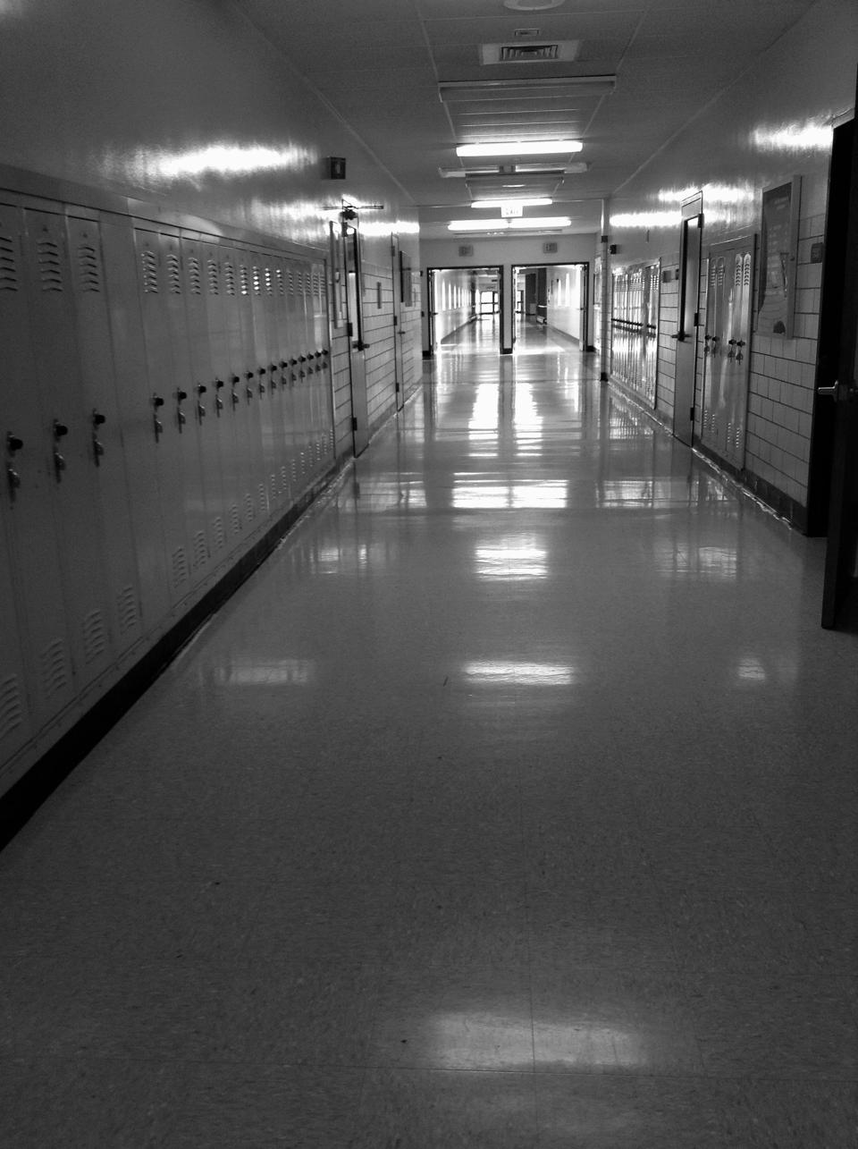 Empty school hall.