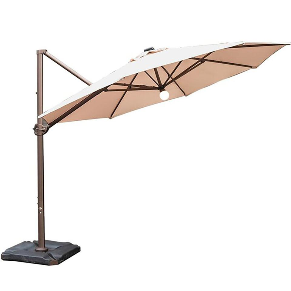 Judah 11' x 11' Round Lighted Cantilever Umbrella
