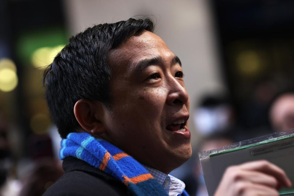 New York City Mayoral Candidate Andrew Yang Delivers Signatures To Officially Add Name To Ballot