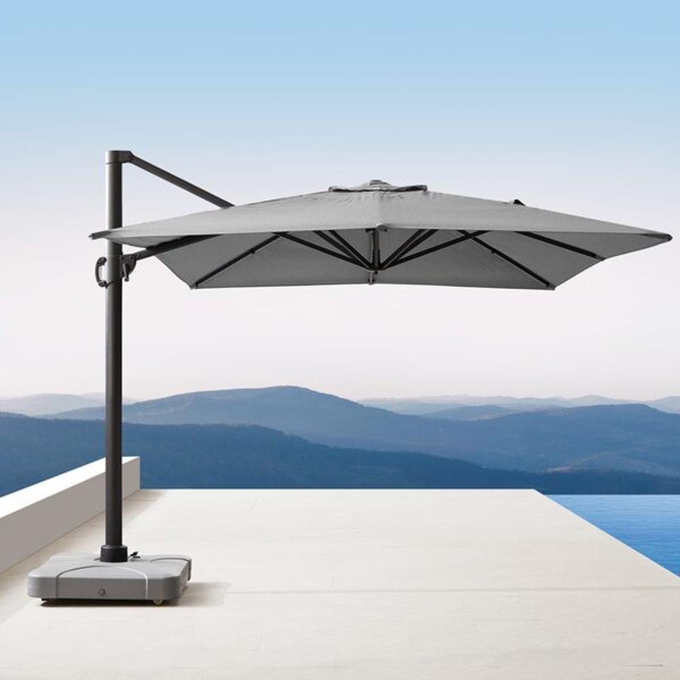 Longshore Tides Corley 10' x 13' Rectangular Cantilever Sunbrella Umbrella & Reviews   Wayfair
