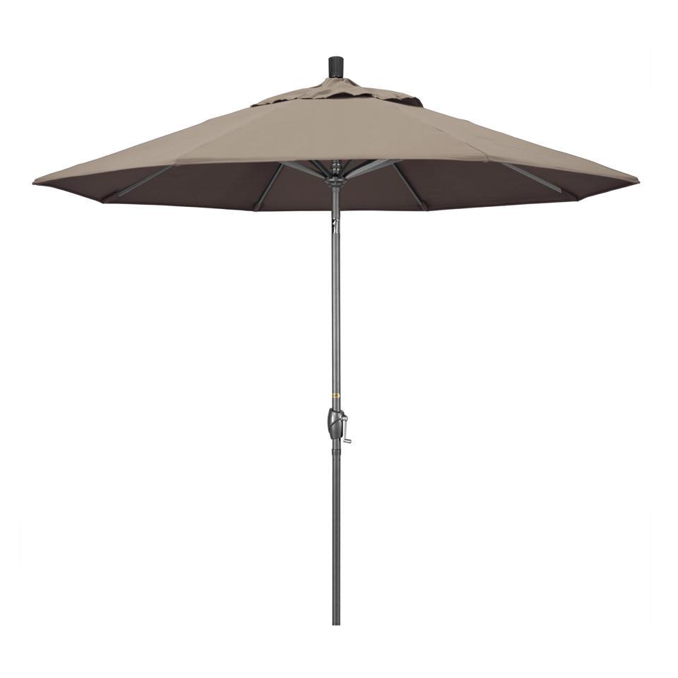 California Umbrella Hammertone Aluminum Market Patio Umbrella in Taupe