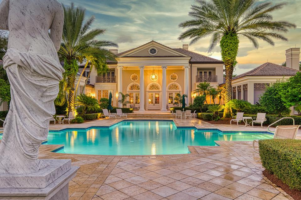 georgian mansion and swimming pool vero beach  131 Gem Island Drive