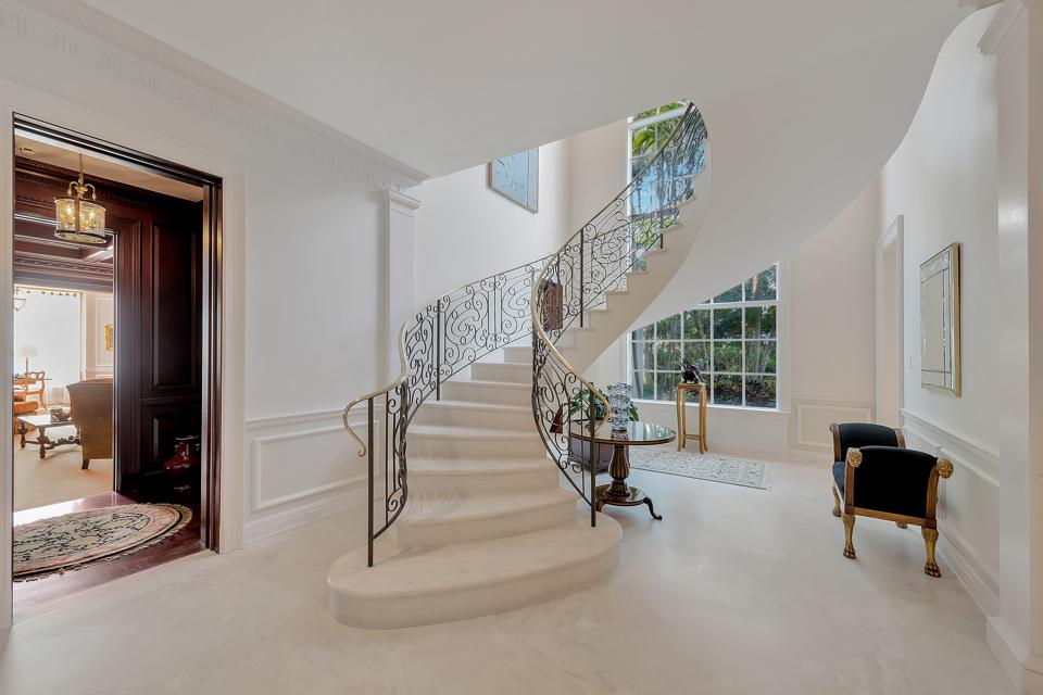 sculptural staircase inside 131 Gem Island Drive Vero Beach, FL, United States mansion