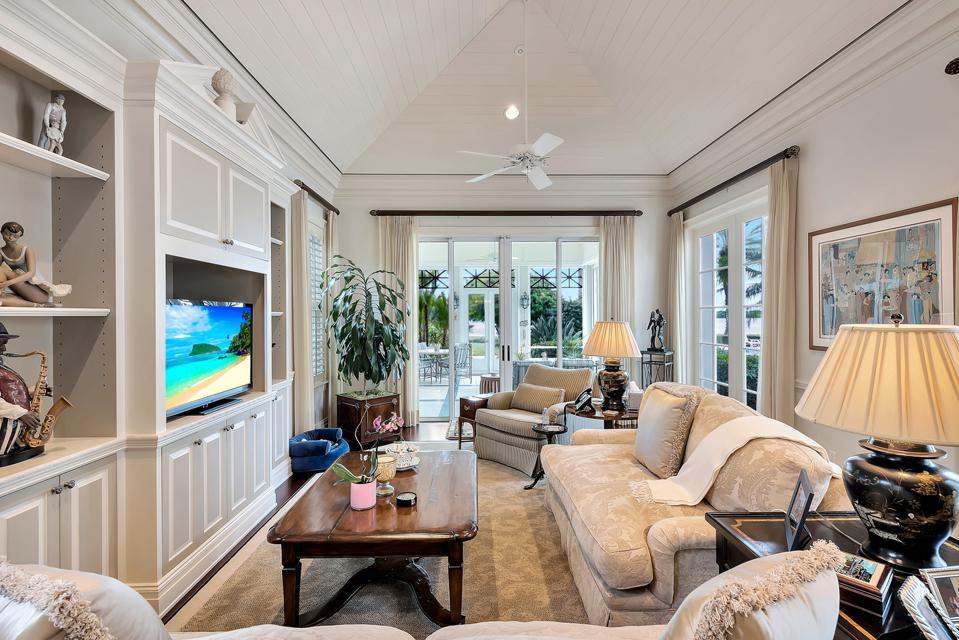 media room in john's island mansion 131 Gem Island Drive Vero Beach, FL, United States