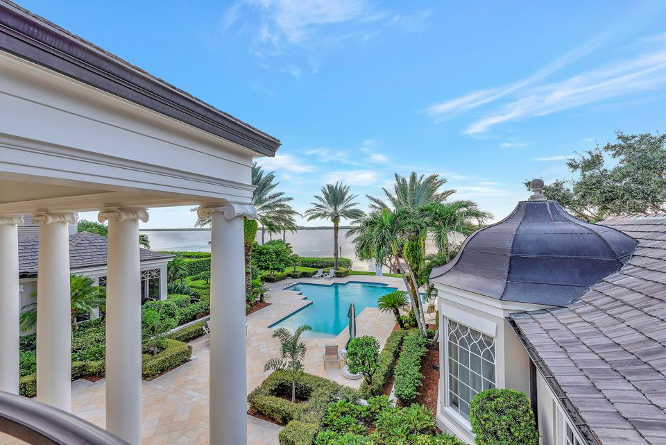 ocean view from luxury home  131 Gem Island Drive vero beach florida