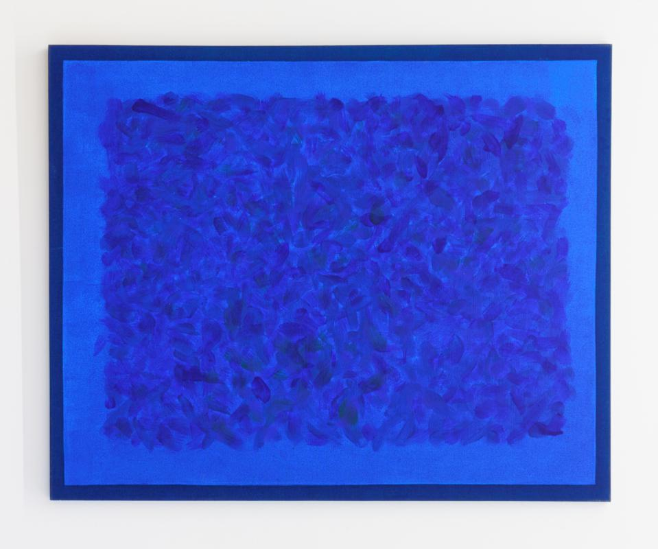A blue painting
