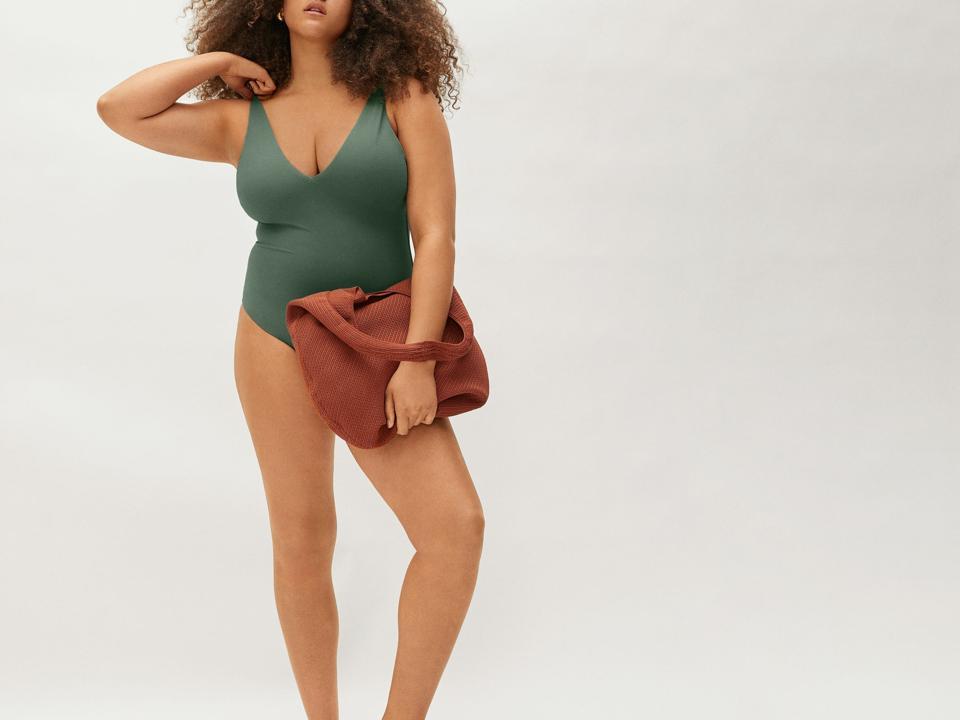 Sustainable swimwear: The V-Neck One Piece