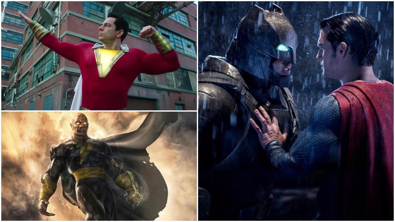 Shazam, Black Adam and Batman v Superman