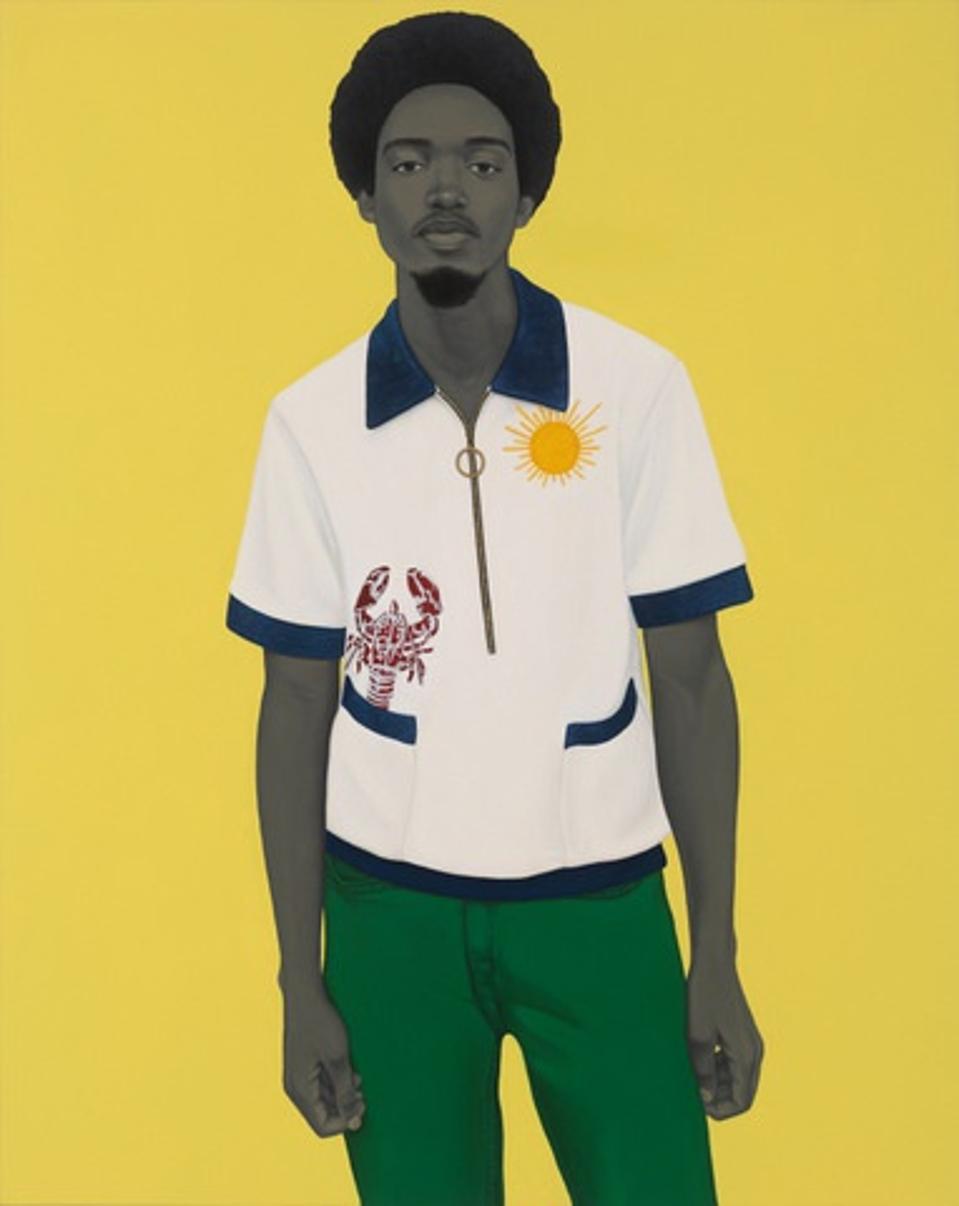 Young man in cabana shirt