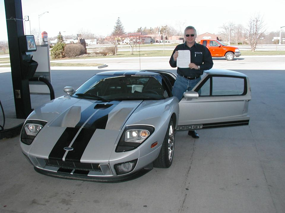 The guilty party, Ford GT Quality Engineer Bob Brown.