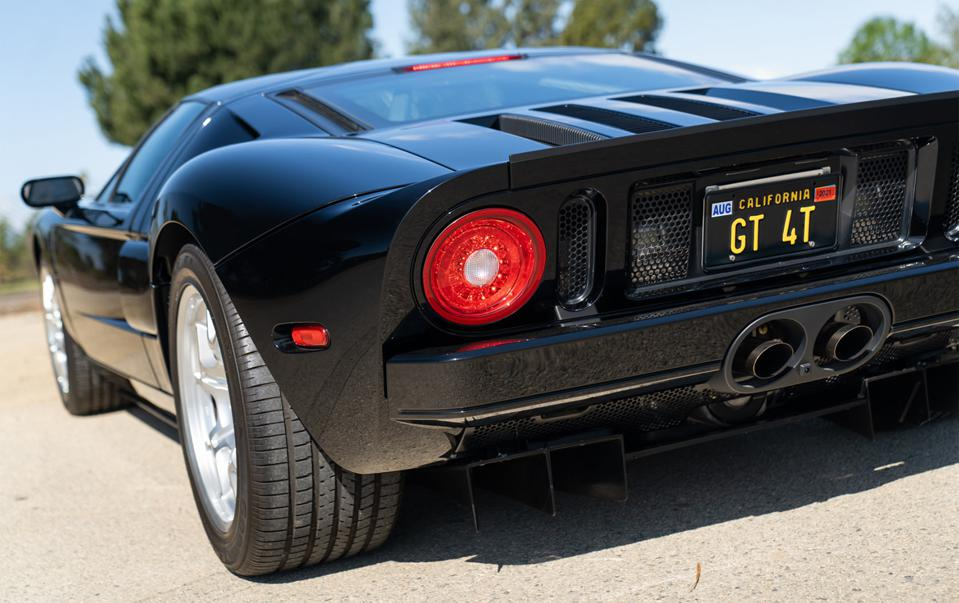 2006 Ford GT offered by Gooding has less than 1400 miles on the clock.