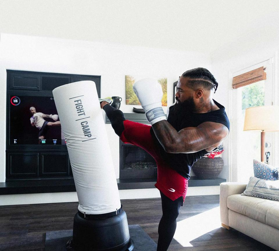 The Fight Camp smart boxing fitness system.