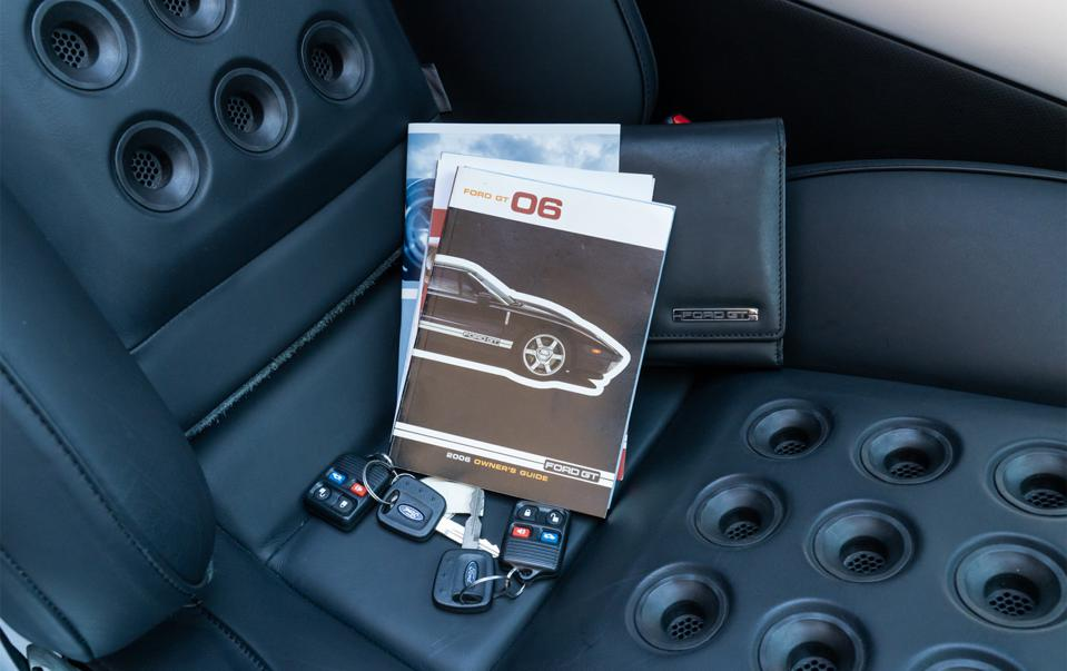 Ford GT offered by Gooding includes collateral marketing materials.