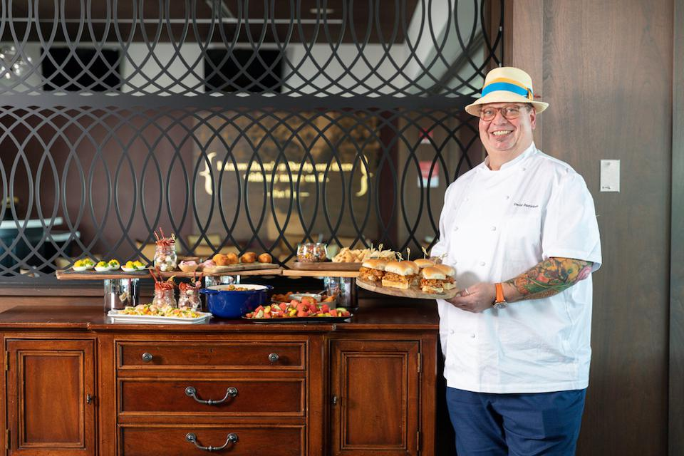 chef with food