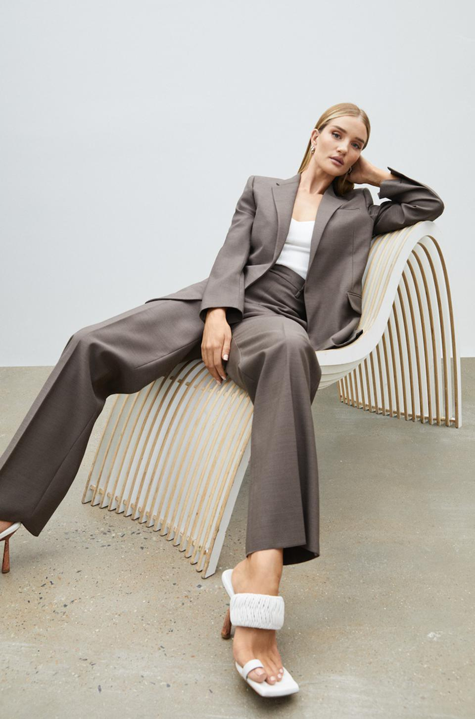 Model and entrepreneur, Rosie Huntington-Whiteley, is debuting her first footwear collecti