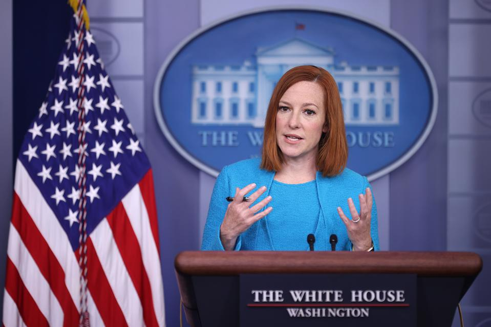 Jen Psaki Speaks To White House Press In Daily Briefing