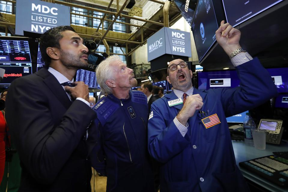 Financial Markets Wall Street Virgin Galactic