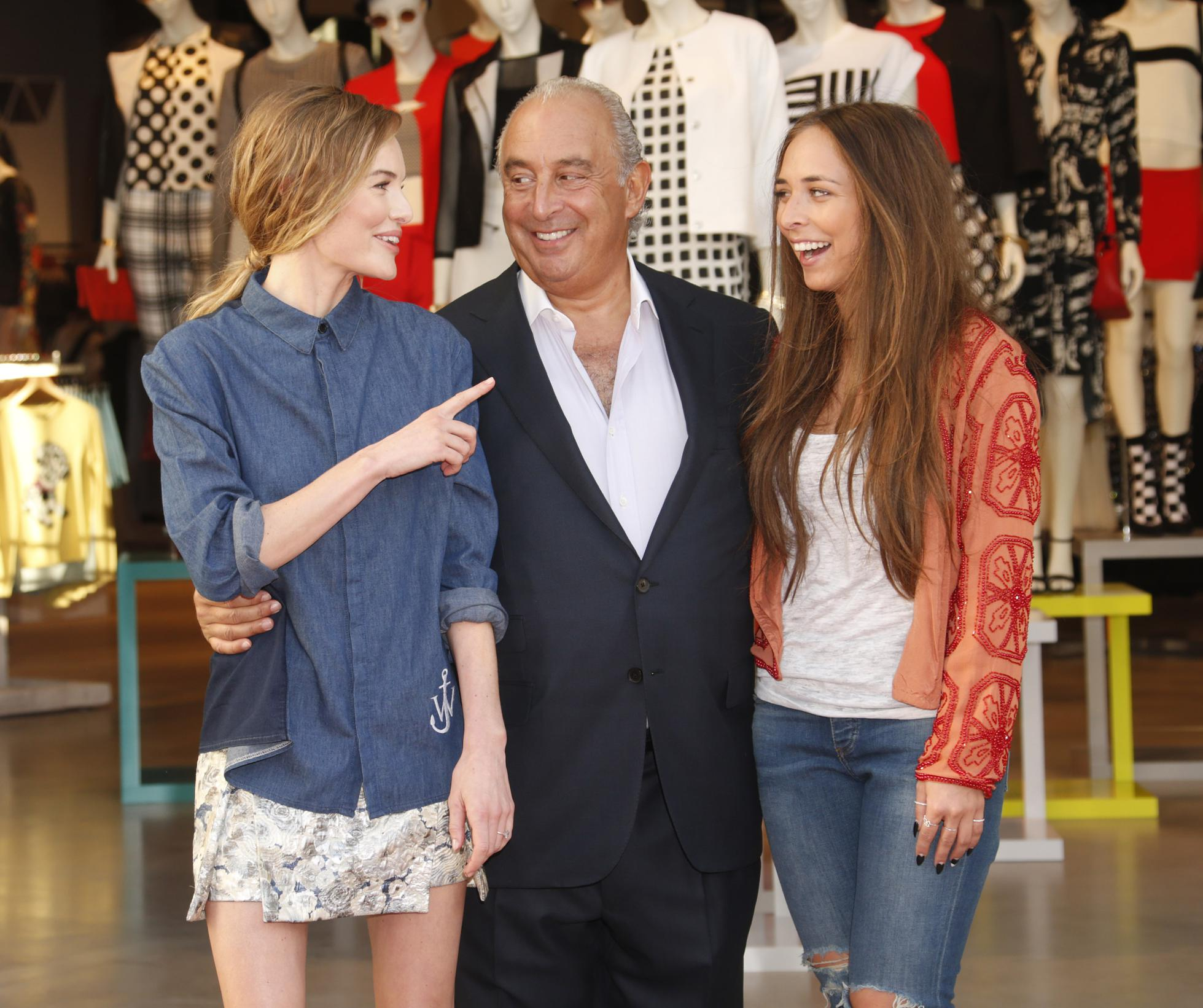 Sir Philip Green hosts a British Street Party to celebrate the O