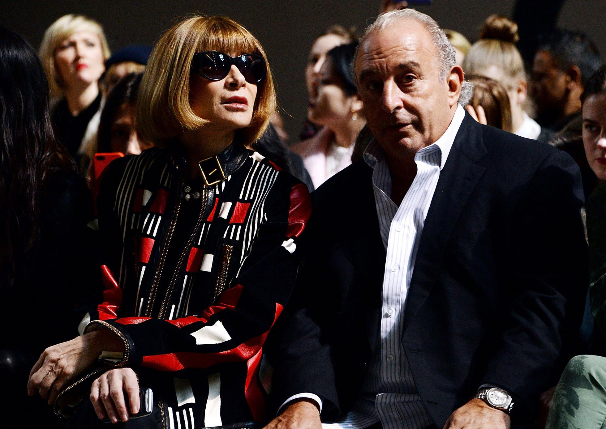 Topshop Unique: Front Row - London Fashion Week AW14