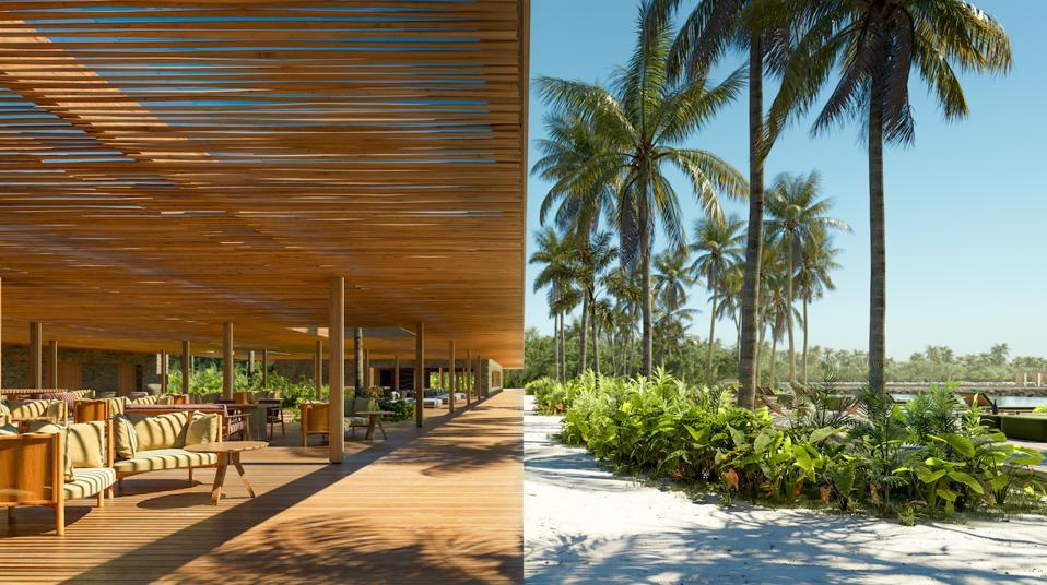 The nature-inspired architectural design of Marcio Kogan at Patina Maldives.